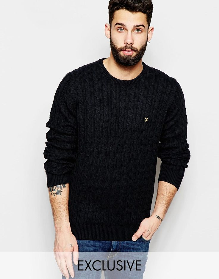 Farah Jumper with Cable Knit EXCLUSIVE