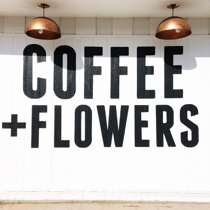 we live on coffee + flowers