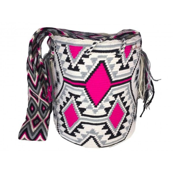 Black and pink Indian bag