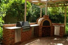 brick oven outdoor counter set up - Google Search
