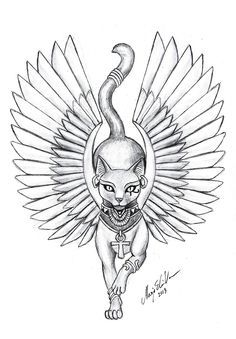 egyptian cat tattoo - Google Search