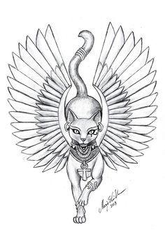 egyptian cat tattoo - Google Search