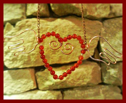 #heart #wings #necklace