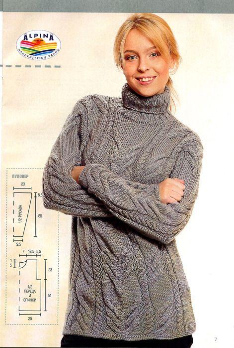свитер косами