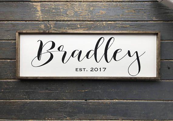 Family Name Sign. Wood Family Sign. Wedding Gift. Established