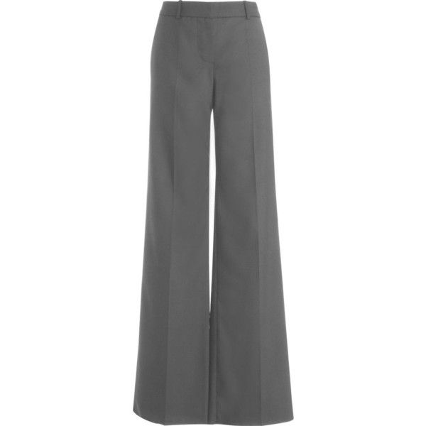Chloé Wide leg Trouser - Grey size 42 (37.280 HUF) ❤ liked on Polyvore featuring pants, bottoms, trousers, women, wide leg pants, wide-leg trousers, gray trousers, grey flannel trousers and grey wide leg trousers