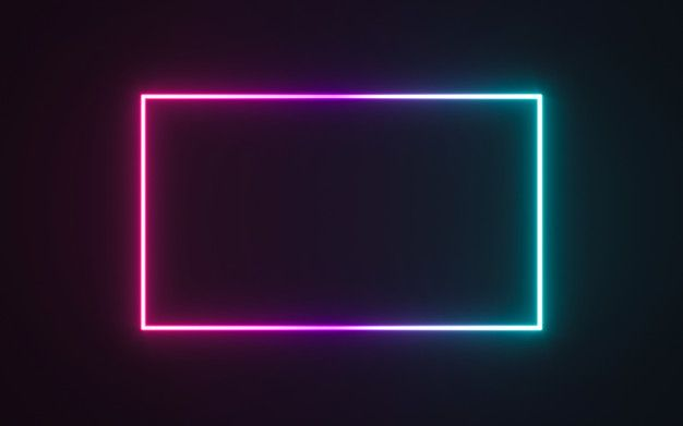 Neon Frame Sign In The Shape Of A Rectangle Neon Wallpaper Neon Backgrounds Neon