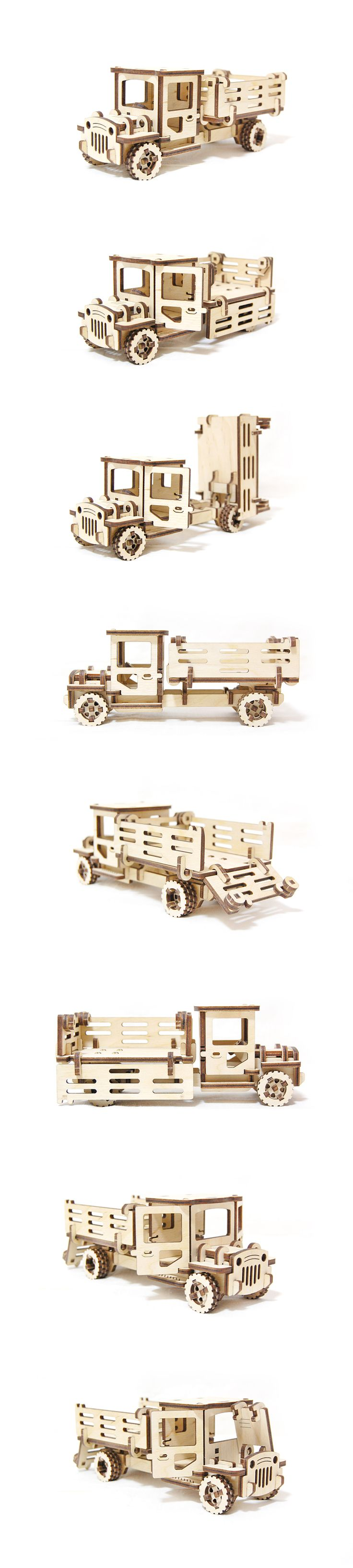 3D Wooden Truck Puzzle Toy