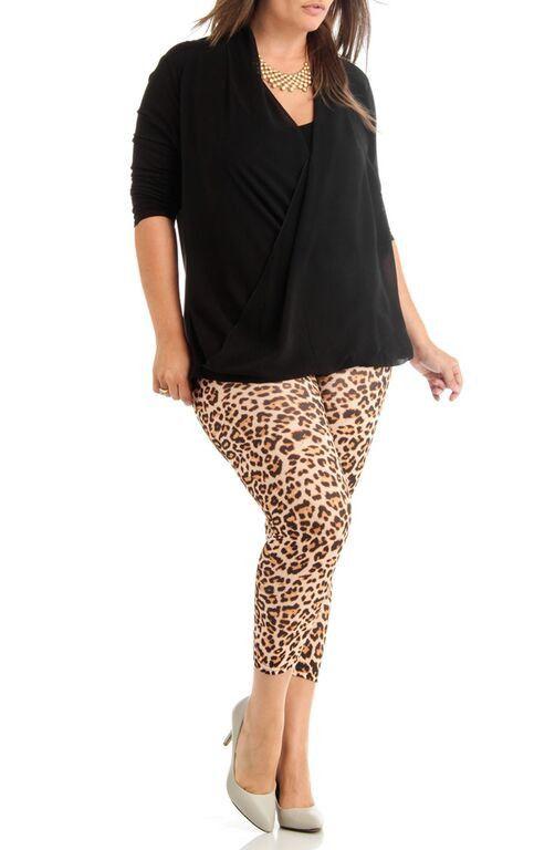 Women's Plus Size Leopard Print Leggings