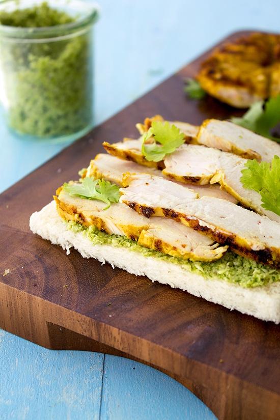 Coconut Chutney Chicken Sandwiches