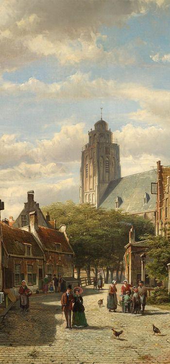 Willem Koekkoek - Nederlands Stadsgezich
