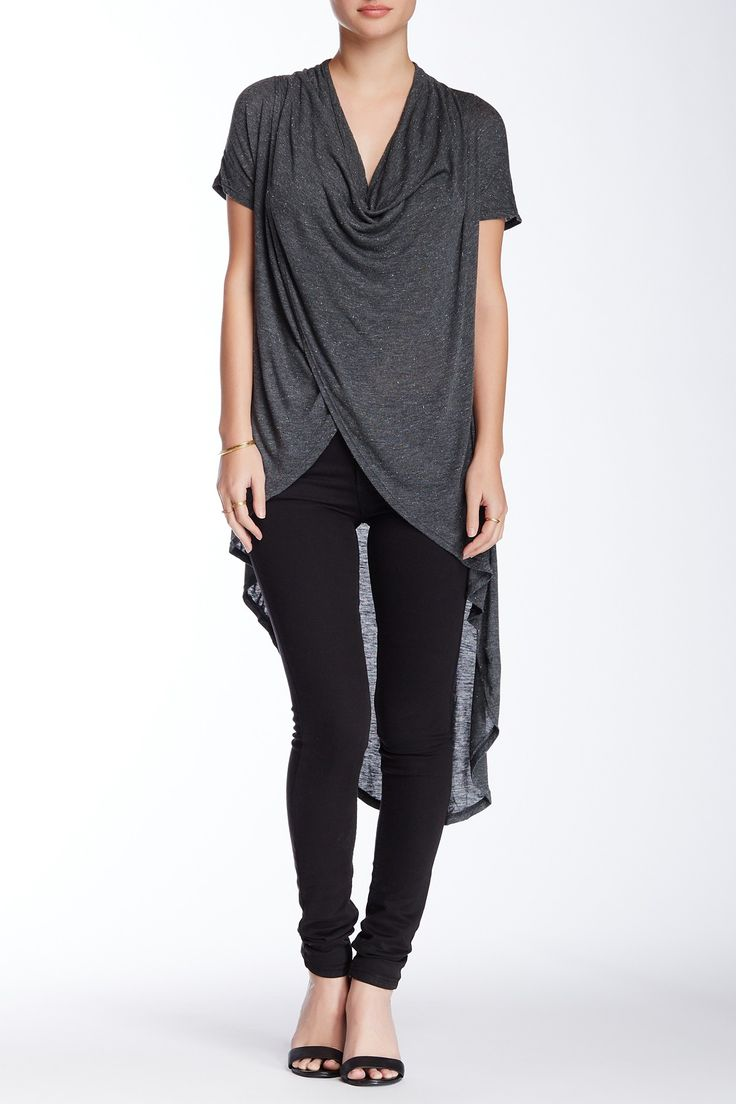 Hi-Lo Draped Wrap Tee by Blush Noir on @nordstrom_rack