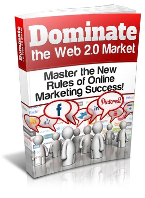 5th. #DominateTheWeb2.0Market    Master the new rules of online marketing success!    Within this E-book you will learn just what Web 2.0 really is. No fancy tech talk, just plain English so that everyone can maximize this marketing potential. Learn how to use each type of Web 2.0 site to maximize your marketing potential. Each type of Web 2.0 site has different ways of doing things. Once you know how to market with that type of site, you will see your marketing efforts work for you.