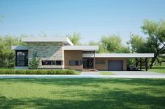 Modern Style House Plan - 4 Beds 1.50 Baths 1941 Sq/Ft Plan #552-6 Exterior - Front Elevation - Houseplans.com