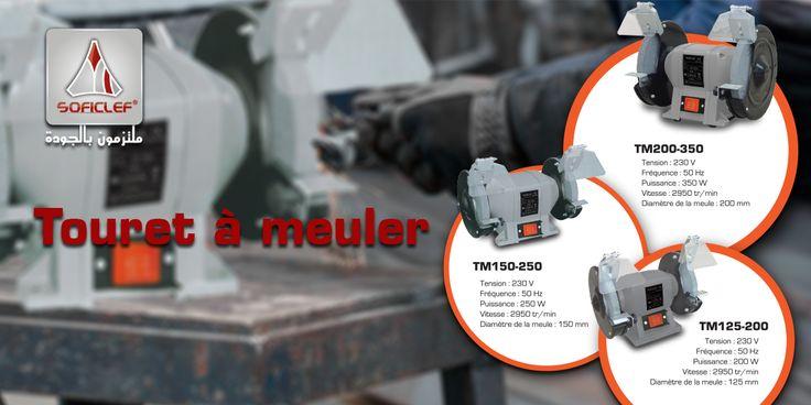 Le #touret_à_meuler est un outil pratiquement indispensable pour le #bricoleur afin d'#affûter, #meuler et #polir ses outils. Retrouvez toute la gamme #Soficlef sur notre site web : http://www.soficlef.com/outillages/Mat_atelier.php