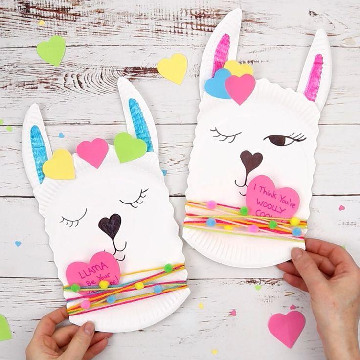 Dieses Pappteller-Lama-Handwerk ist so entzückend! Es ist ein schnelles und einfaches Lama …   – Sara