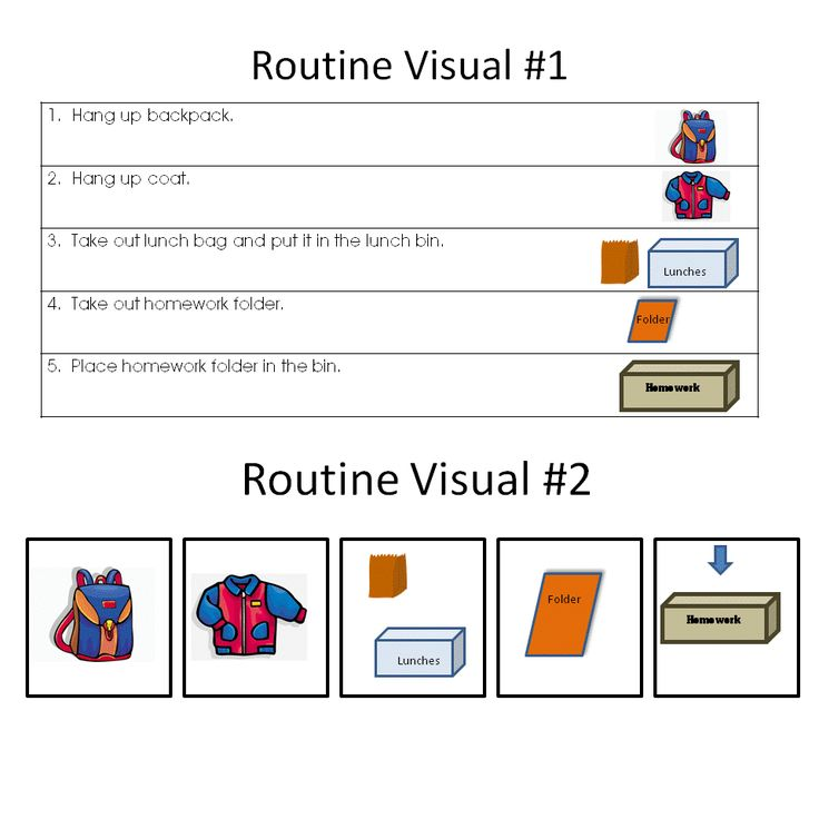 Morning Routines in an Autism Classroom. #autism #routine #morning