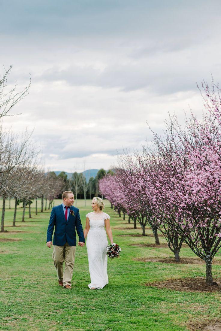 Cherry blossoms at Sydney Polo Club Winter Wedding. Photography: Sutoritera