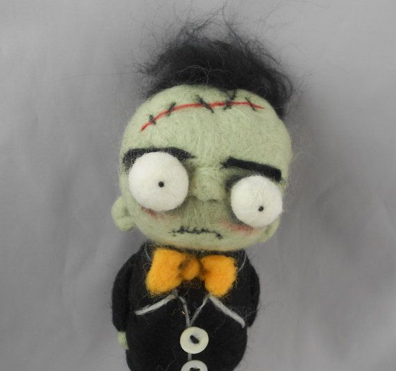 Frankenstein Ooak art doll by papermoongallery on Etsy, $69.00
