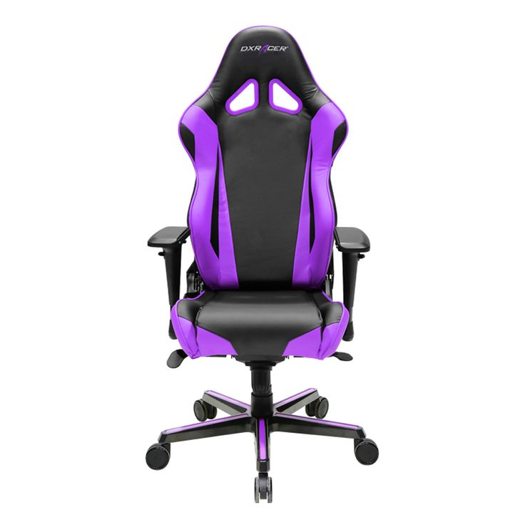 Dxracer Oh Rv001 Nv High Back Racing Style Office Chair Vinyl Pu Black Violet