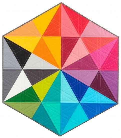Prismatic Medallions Free Pattern: Robert Kaufman Fabric Company