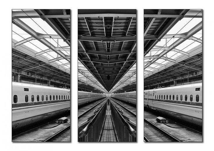 Bullet Train - Marie Bilodeau #triptych #photography #art