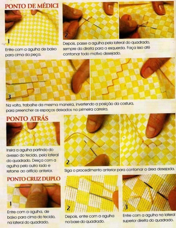 Bordado Passo a Passo: Como bordar em tecido xadres