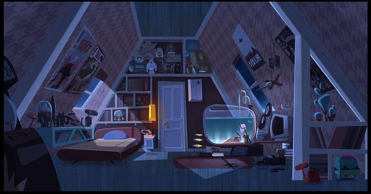 """JAMIE'S GOT TENTACLES!""   Background painting : Gael BECU  Background design : Thomas GREFFARD"