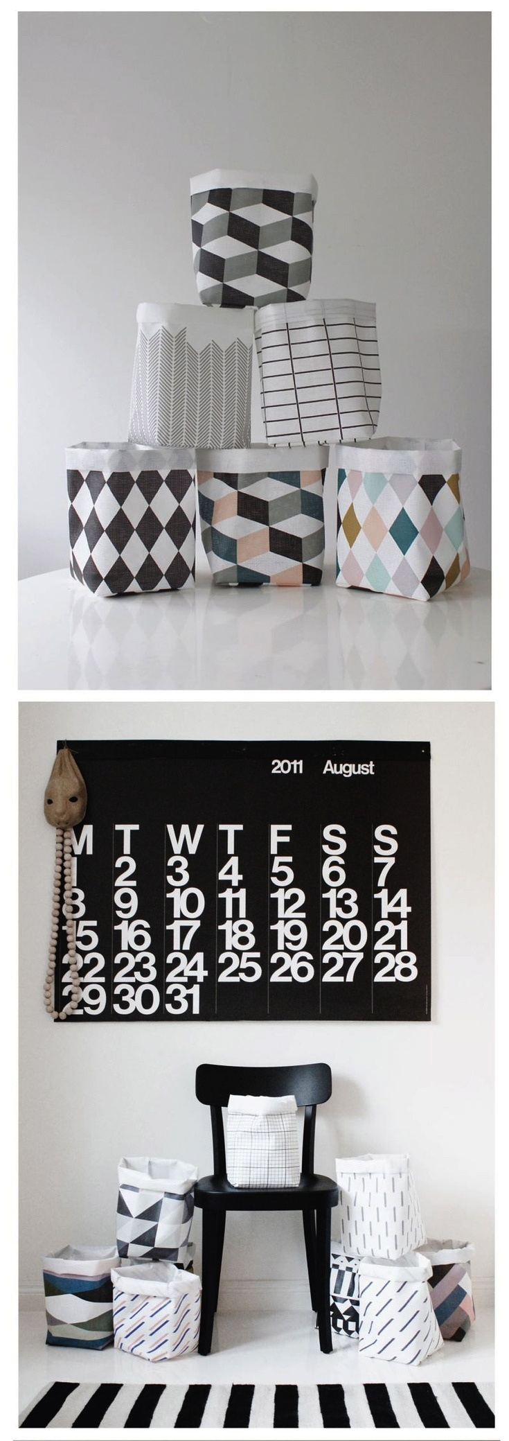 Via Sunset Gurl Design | Vaprunen Sack | Stendig Calendar | Black and White