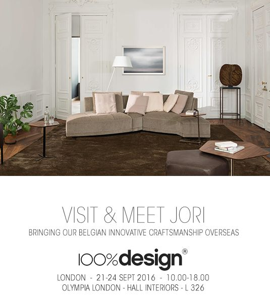 JORI @ 100% Design 2016, 21-24 September 2016, Olympia, London, Stand L326