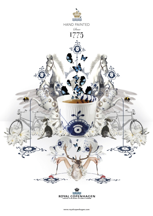 3D collage for Royal Copenhagen