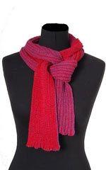 Hokuspokus - lille tørklæde strikket i hør/uld