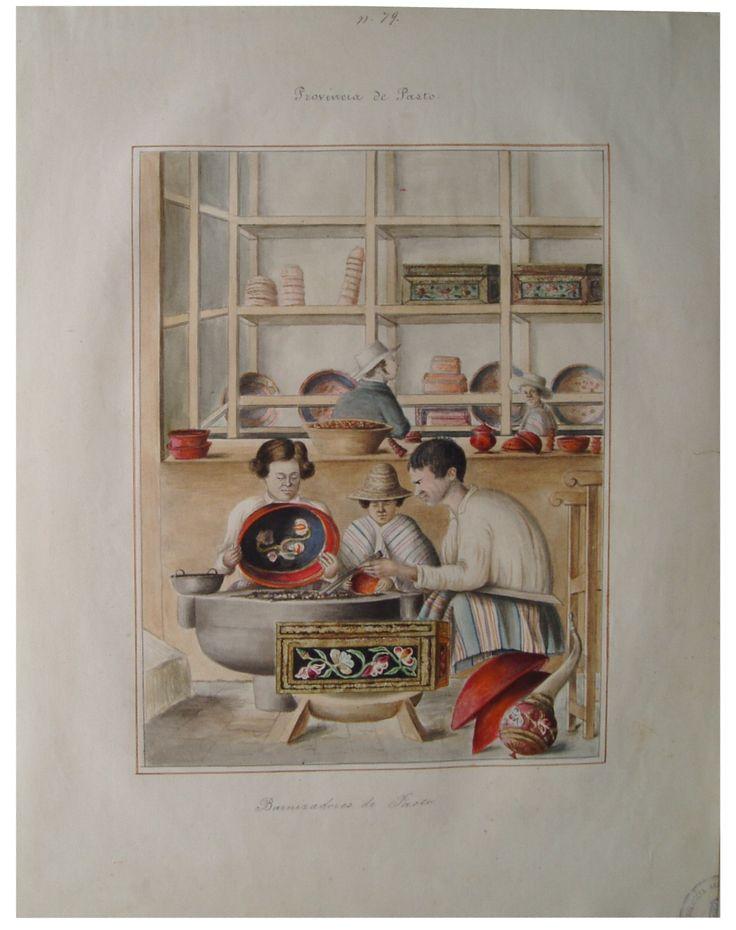"""""""Barnizadores de Pasto. Provincia de Pasto"""". Manuel María Paz, 1853. BNC, 5028."""