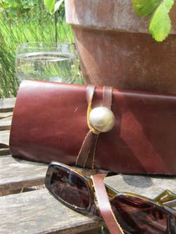 Brown Leather Purse With Tie | Buy Now