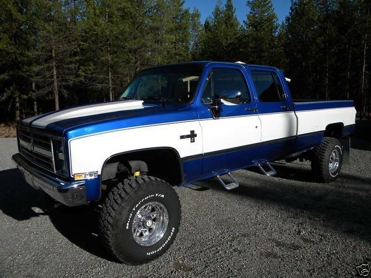 1986 Chevy Silverado K3500 Lifted Trucks Pinterest