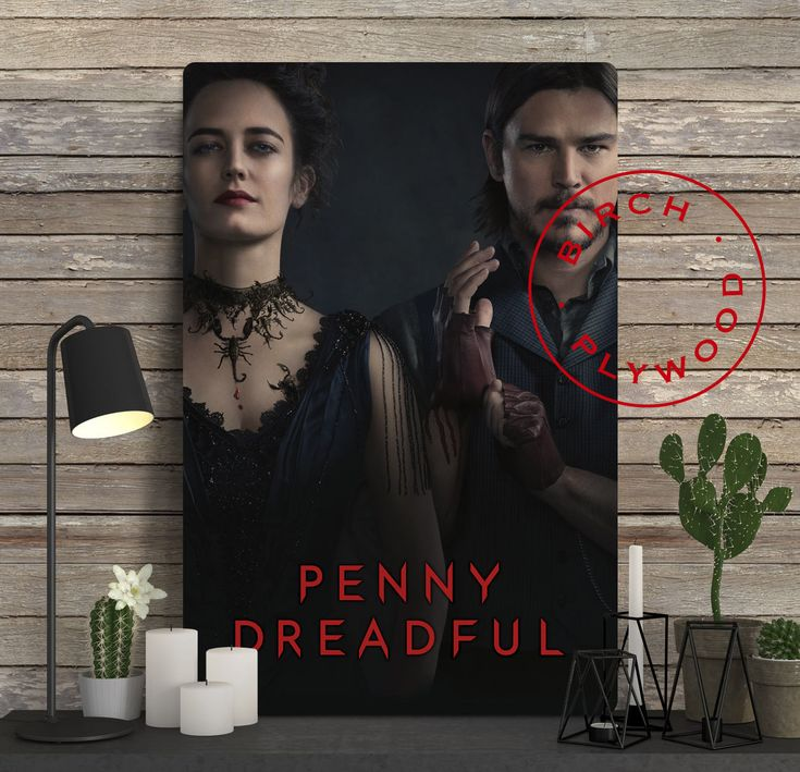 PENNY DREADFUL - Poster on Wood, Josh Hartnett, Timothy Dalton, Eva Green, Print on Wood, Christmas Gift, Unique Gift, Wall Decor by InHousePrinting on Etsy