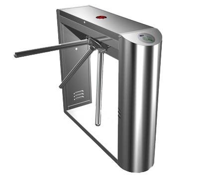 Automatic tripod turnstile with built-in electronics and 2 readers remote control panel for access control system