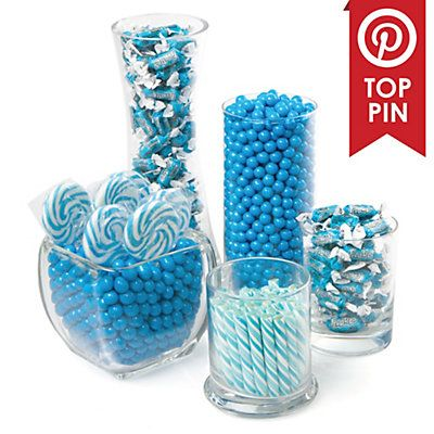 Blue - Baby Shower Candy Buffet Kit | BigDotOfHappiness.com