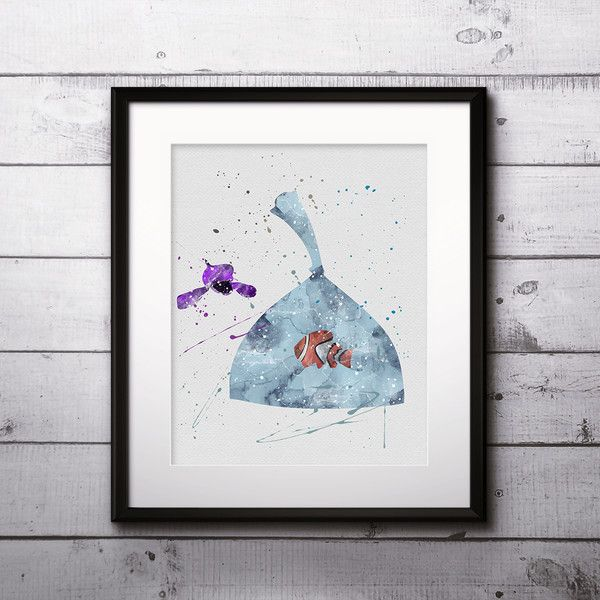 Wall Art – Finding Nemo Disney art print poster wall decor  – a unique product by DigitalAquamarine on DaWanda