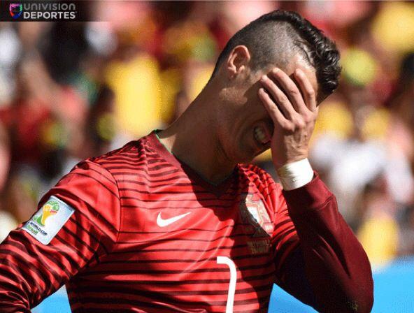 Portugal fuera de la copa.  #Cristiano Ronaldi #WorldCup2014 #MundialBrasil2014