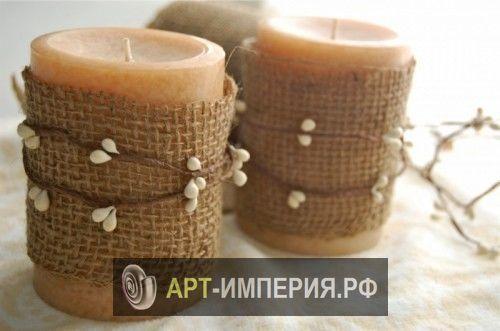 Декор свечей своими руками, украшение свечей своими руками, украшение свечей своими руками фото (3)