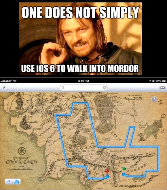 One Does Not Simply Use iOS 6 to Walk into Mordor