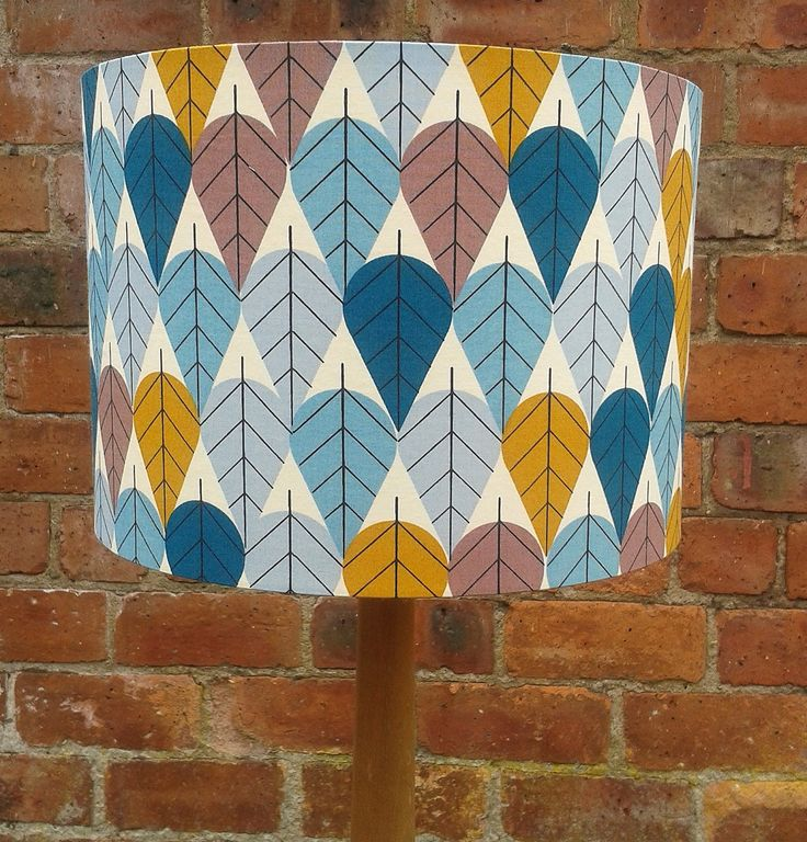 Charley Harper  Leaves - Fabric covered lampshade. by Lightflightlighting on Etsy