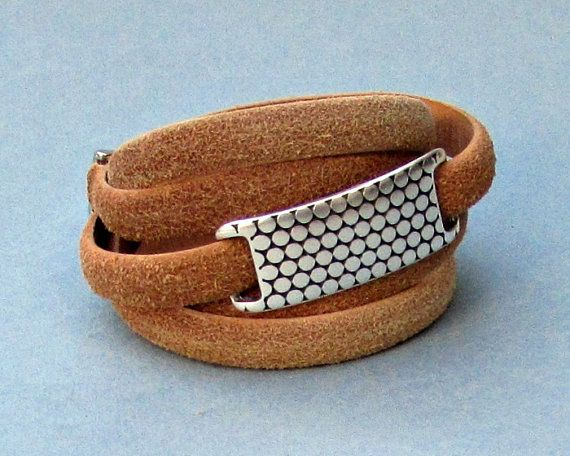 Distressed Mens Leather Wrap Bracelet Mens For Men by GUSFREE