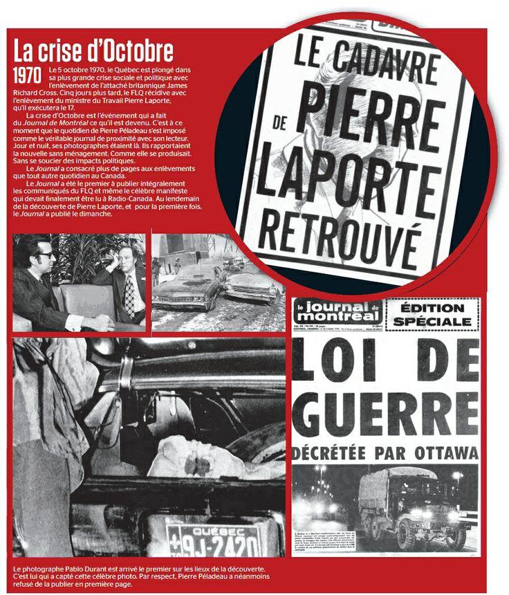 Le 05 octobre 1970. La crise d`Octobre.