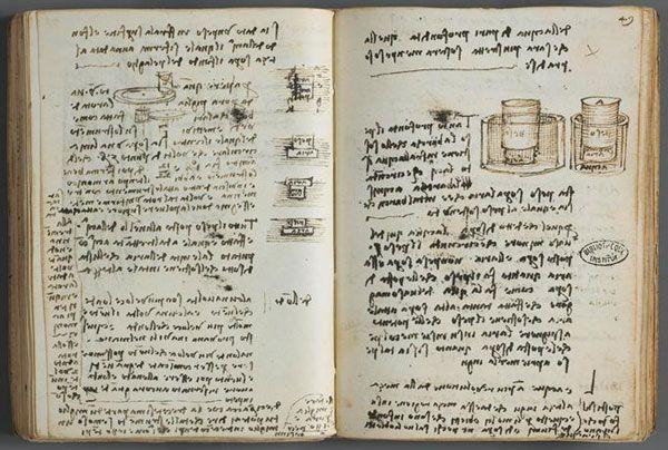 Leonardo da Vinci's notebook - A Peek Inside the Notebooks of Famous Authors, Artists and Visionaries