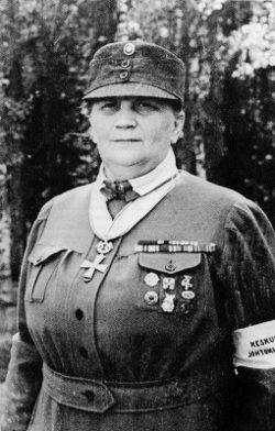 Lotta Svärd leader Fanni Luukkonen http://ww2db.com/person_bio.php?person_id=F870
