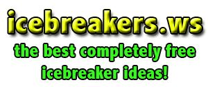 Large Group Icebreakers - Many of these would be better for younger crowd, but I like the connecting stories, ideas from extremes and icebreaker questions