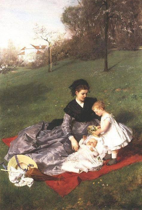 Szinyei Merse Pál: Anya és gyermekei Date 1868–1869 Medium oil on canvas