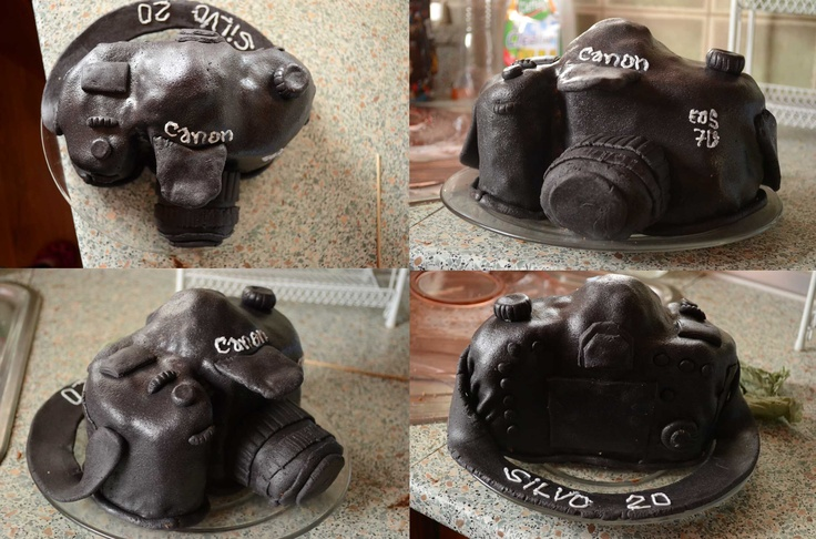 "Birthday cake...My first ""3D"" cake. Canon 7D :)"